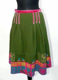 SALE! IVKO Wool Jacquard structure skirt (40) - Large #Ivko #Alineskirt