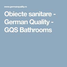 Obiecte sanitare - German Quality - GQS Bathrooms