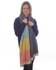 Staffa luxury finest soft wool wrap made in Britain