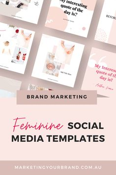 302 Modern Femme Social Media Templates for Canva, Marketingyourbrand.com.au | This sophisticated template pack will help you stand out from the crowd, and become instantly recognizable through your classy, and curated branded posts. #socialmediatips #instagramtemplates #branding #brandingtips #businessgrowthtips #socialmedia #instagram