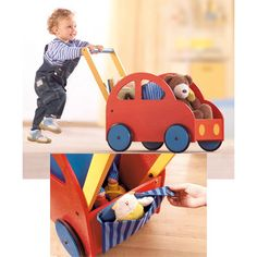 Haba - Pushing Car - Toddler Toys - Cotton Babies Cloth Diaper Store #CottonBabies #cbfavoritethings