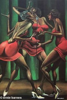 Ernie Barnes The Olympic Experience-Signed featuring the complete Ernie Barnes collection. View images from the Ernie Barnes Gallery. We are an Authorized Dealer for the African American Art of Ernie Barnes African American Artwork, African Art, American Artists, Black Love Art, Black Girl Art, Action Painting, Ernie Barnes, Arte Black, Black Art Pictures