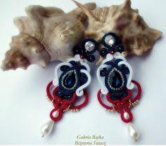 """Galeria Bajka Soutache Jewelry: Kolczyki/earrings """"Admirał"""""""