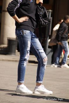 Jeans , street style ,Italy