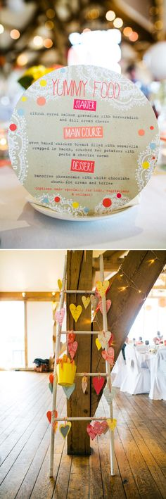 A modern bright colourful wedding at Sanburn Hall York with a bride designed dress 0195 Vibrant Creative Colour. Tipi Wedding, Wedding Fair, Our Wedding, Wedding Menu Display, Party Planning, Wedding Planning, Never Getting Married, Craft Projects For Kids, Craft Ideas