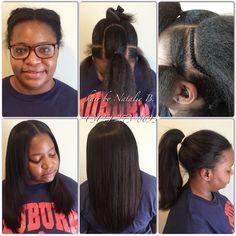 PERFECT PONY SEW-IN HAIR WEAVES by Natalie B. (312) 273-8693...IG: @iamhairbynatalieb...FACEBOOK: Hair by Natalie B. .....ORDER HAIR: www.naturalgirlhair.com.