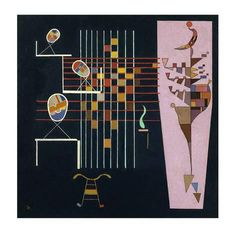 """Art Print: """"Les Trois Ovales"""" by Wassily Kandinsky : 28x28in"""