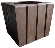cachepot alpha m de madeira rústico                                                                                                                                                      Mais