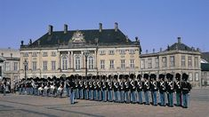 Denmark, Copenhagen: The changing of the royal guard of the Amalienborg. Visit Denmark, Denmark Travel, Copenhagen City, Copenhagen Denmark, Places Around The World, Around The Worlds, Places To Travel, Places To Visit, Parc A Theme