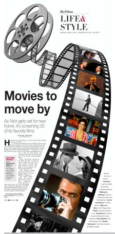 Movies to move by at The Nickelodeon Newspaper Page Design Portfolio Filme im Nickelodeon Newspaper Design Layout, Page Layout Design, Magazine Layout Design, Book Design, Yearbook Pages, Yearbook Layouts, Design Editorial, Editorial Layout, Magazine Spreads