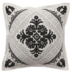 black and gray pillow