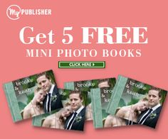 Get 5 FREE mini photo books @MyPublisher!   #coupon #offers