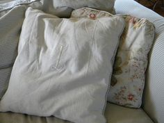 dropcloth pillow