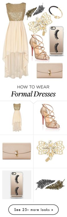 """Formal"" by taradactyl22 on Polyvore featuring Tasha, Christian Louboutin, Dolce&Gabbana, Casetify, Paperself and Snö Of Sweden"