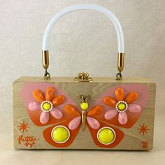"Enid Collins of Texas ""flutter-bye"" box bag by niwotARTgallery on Etsy"