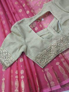 Kurta Neck Design, Saree Blouse Neck Designs, Saree Blouse Patterns, Designer Blouse Patterns, Dress Neck Designs, Saree Designs Party Wear, Patch Work Blouse Designs, Simple Embroidery Designs, Blouse Models