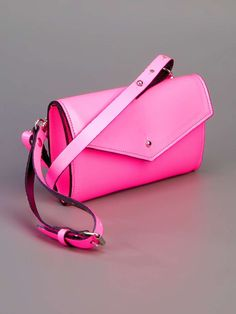 Neon leather bag on Wantering