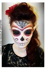 Image result for sugar skull make up