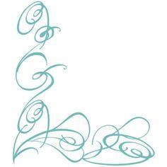 Blue Decorative Swirl clip art - Polyvore