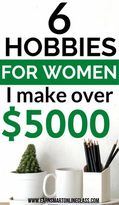15 Hobbies That Make Money In 2020 - - Are you looking for money making hobbies? Here is a list of 15 awesome hobbies that make money from the comfort of your home. See a profitable hobbies list! Hobbies For Women, Hobbies That Make Money, Hobbies And Interests, Make Money Fast, Things To Sell, Fun Hobbies, How To Earn Money, Cheap Hobbies, Earn Money From Home