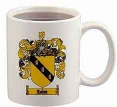 $15.99 Lowe Coat of Arms Mug / Family Crest 11 ounce cup