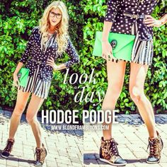 HODGE PODGE | When you're mixing and matching patterns and colors, throw the fashion rules you know out the door. As long as you feel confident in the outfit, it's going to make a fashionable impact.