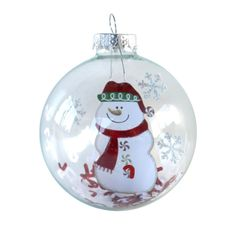 Snowman Sticker Christmas Ornament