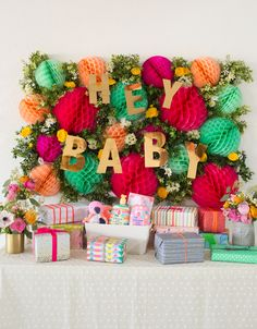 floral honeycomb decor for a baby shower... | Oh Joy! | Bloglovin'