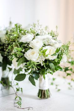 White and green wedd