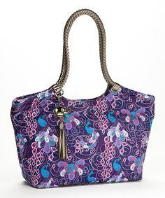 Look at this #zulilyfind! Indigo Peacock Braided Handle Tote & Keychain #zulilyfinds