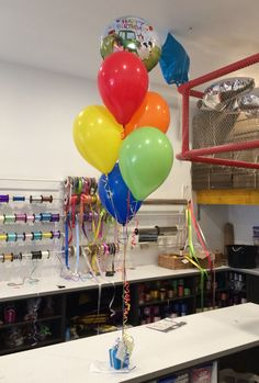 Birthday Barnyard With Rainbow Latex And Boxed Jellybeans Balloons Online Balloon Gift Bouquets