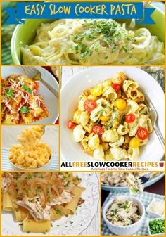 Easy Slow Cooker Pasta Recipes - these easy pasta recipes will keep your menu full for a while!