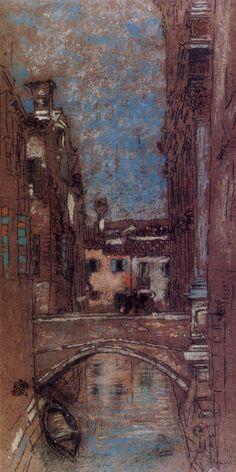 San Rocco (Venice): James A. James Abbott Mcneill Whistler, San Rocco, Venice Painting, French Paintings, Building Art, Canadian Art, Impressionist Paintings, Chalk Pastels, Urban Sketching