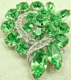 Green Eisenberg Ice Brooch / Vintage by imagiLena on Etsy, $75.00 SOLD!