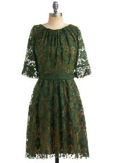 Green Anne's Lace Dress