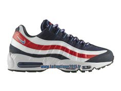 "Nike Air Max 95 City QS ""England London"" - Chaussure Nike Pas Cher Pour Homme Midnight Navy/Distance Bleu-Blanc-Chilling Rouge 667637-400"