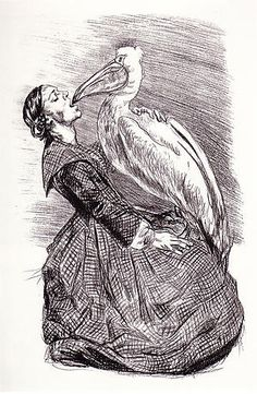 'Loving Bewick', lithograph by Paula Rego, 2001.