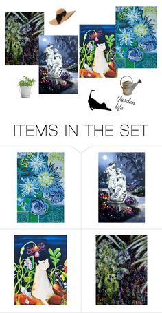 """""""Moonlight Gardens"""" by kateduvall ❤ liked on Polyvore featuring art"""