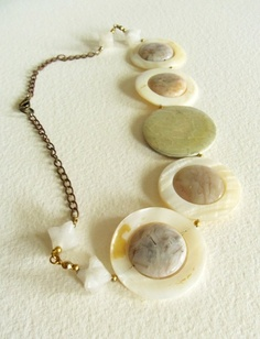 etsy.com  Sassy Shell of a Circle Necklace  Mothers Day Gift by GemC on Etsy, $45.00