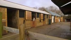 The new stable front Stables, Shed, Outdoor Structures, Cabin, House Styles, Home Decor, Decoration Home, Horse Stables, Room Decor