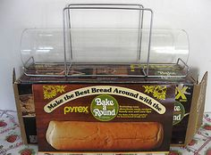"""Must try to track this down on ebay ... it's an old Pyrex """"Bake a Round"""" for perfectly round bread ... 1970's, baby!  Thanks Neufie"""
