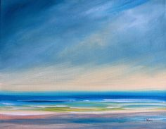 Blue Abstract Seascape Painting