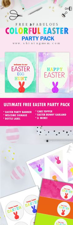 Grab these free Ester party printables! They're all new, unique and colorful! Enjoy the fresh designs!