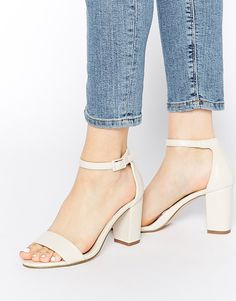 £55 Miss KG Paige White Heeled Sandals