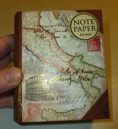 PUNCH STUDIO OLD WORLD MAP MINI BOOK BOX DECORATIVE 235 PC. NOTE PAPER PAD SET