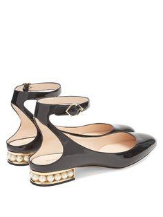 Nicholas Kirkwood Lola pearl-heeled patent-leather pumps