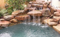 Home Pools With A Waterfall