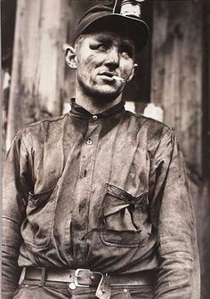 Miner at Dougherty's Mine, Near Falls Creek, Pennsylvania by Jack Delano  The Agricultural Department hired Jack Delano as a photographer for the Farm Securities Administration (FSA)