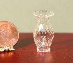 Dollhouse Miniature Artisan Clear Swirl Vase by Philip Grenyer   eBay