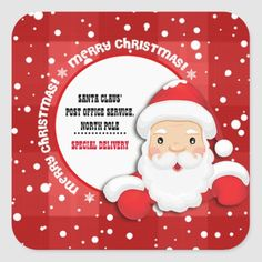 Special Delivery from North Pole Christmas Sticker Merry Christmas Santa, Christmas Gifts For Kids, Christmas And New Year, Letters For Kids, Personalised Christmas Cards, Matching Cards, Special Delivery, Christmas Stickers, Santa Gifts